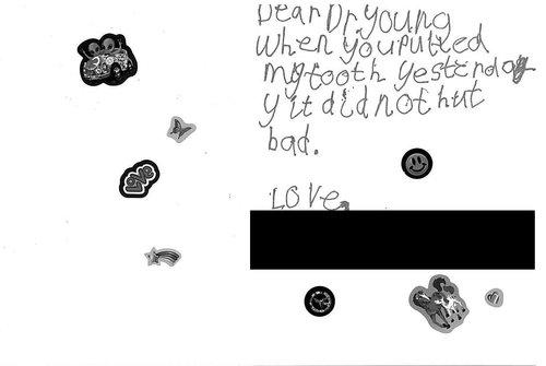 A great review from a child for Kuras Dental Health Associates in Monroe, MI