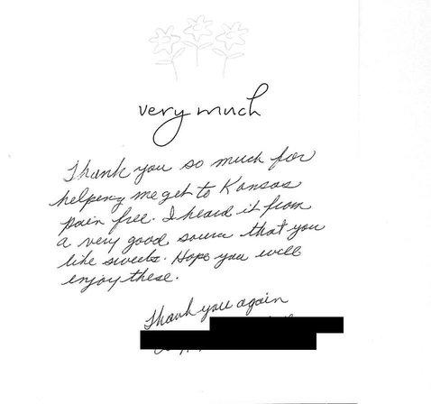 A patient thanks Kuras Dental Health Associates in Monroe, MI for helping them become pain free