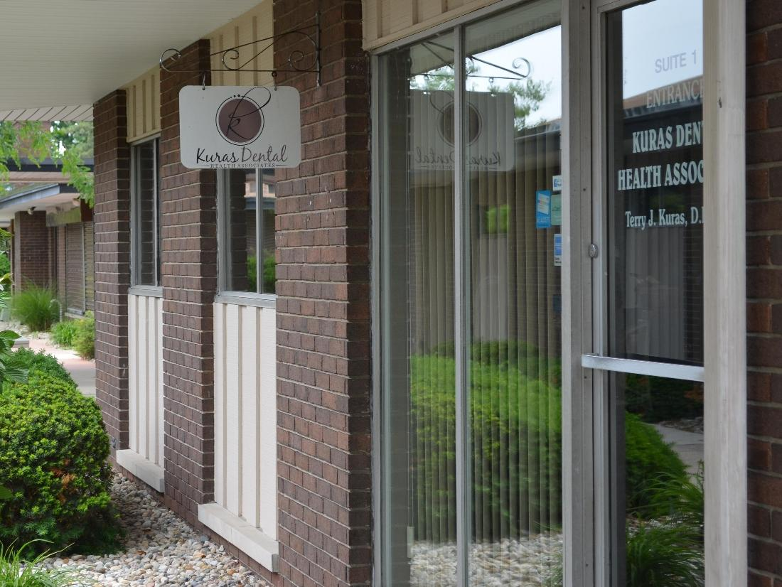 The entrance of Kuras Dental Health Associates in Monroe, MI