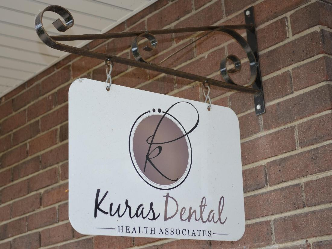 The welcome sign at Kuras Dental Health Associates in Monroe, MI