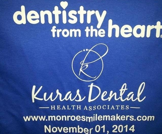 The tshirt of Dentistry from the Heart at Kuras Dental Health Associates in Monroe, MI