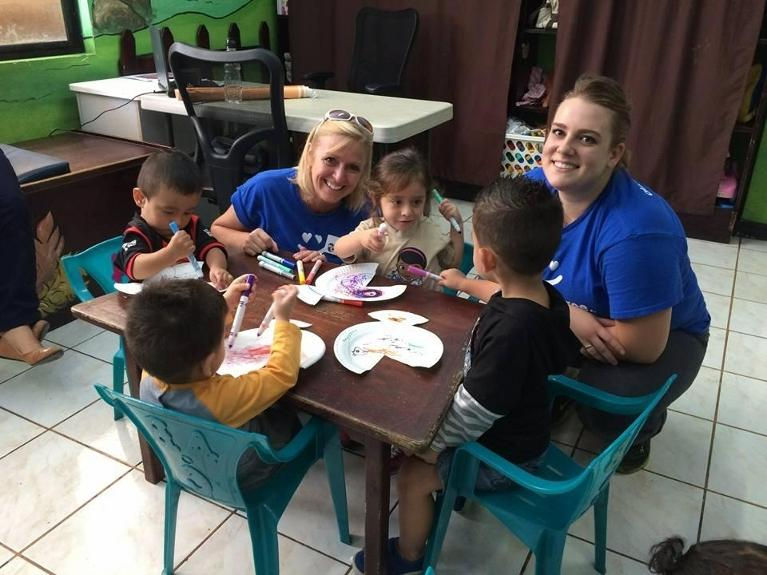 The team at Kuras Dental Health Associates in Monroe, MI does crafts with kids in San Jose, Costa Rica